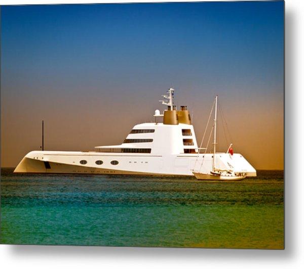 Exotic Yacht Metal Print