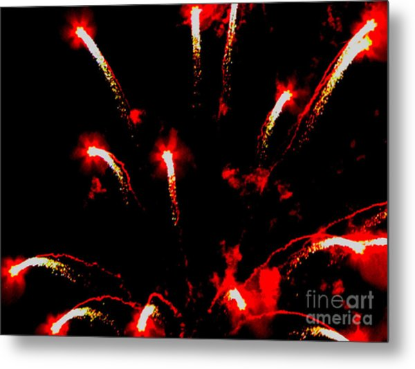 Explosion Of Red Metal Print