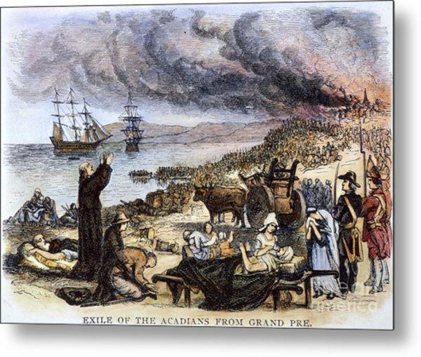 Expulsion Of Acadians 1755 Metal Print