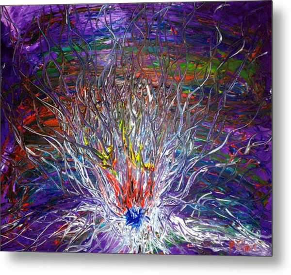 Eye Eruption Metal Print by Pretchill Smith