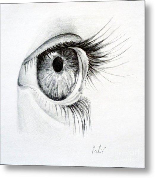 Eye Study Metal Print