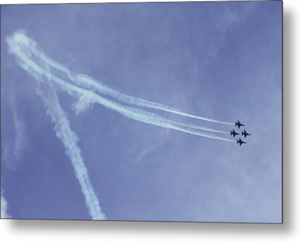 F16s In Formation Metal Print