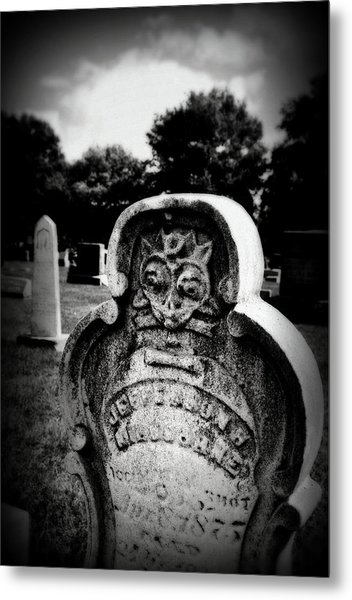 Face In The Grave Metal Print