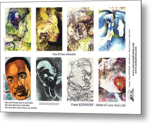 Face Memory I  Metal Print by Kennedy Franz