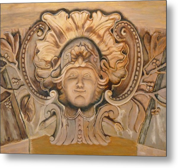 Face On The Wall Metal Print