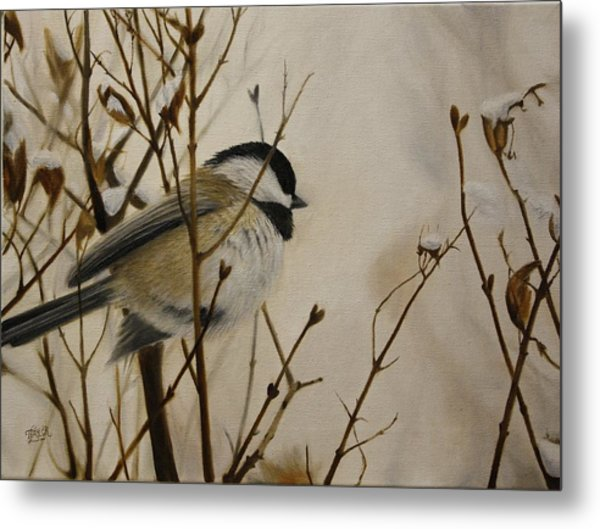 Faithful Winter Friend Metal Print