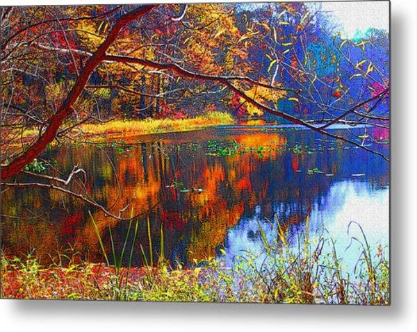 Fall At Surprise Lake Metal Print by Michael Dantuono