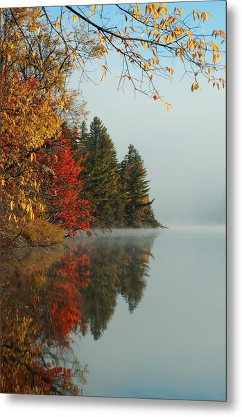Fall Colors On Low's Lake Metal Print