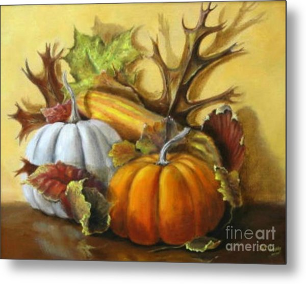 Fall Gatherings Metal Print