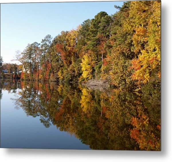 Fall Reflections Metal Print by Larry Krussel