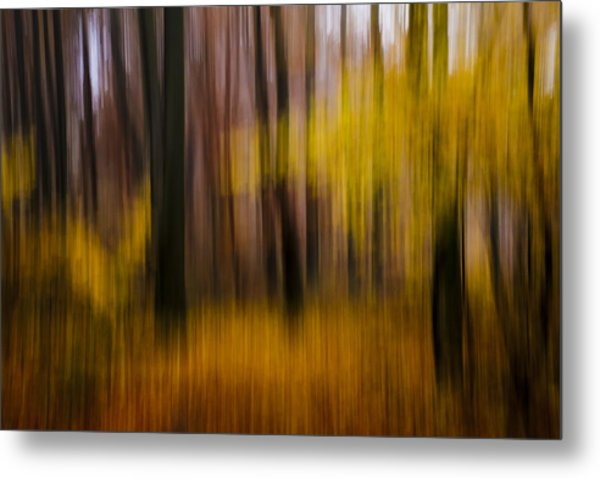Falling Yellow Metal Print