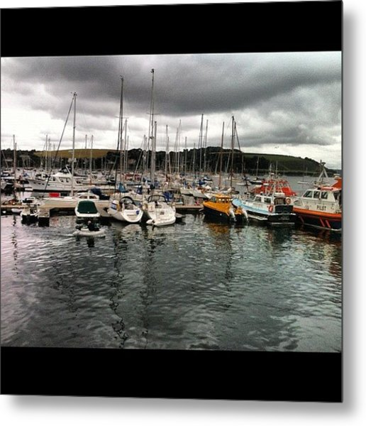 #falmouth  #docks #harbour #reflections Metal Print