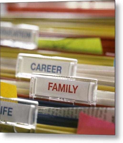 Family Before Career Metal Print by Tek Image