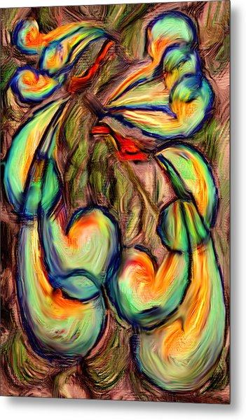 Fanciful Birds Metal Print by Judi Quelland
