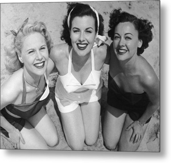 Fancy A Dip? Metal Print by Archive Photos