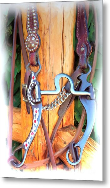 Fancy Bit And Headstall Metal Print