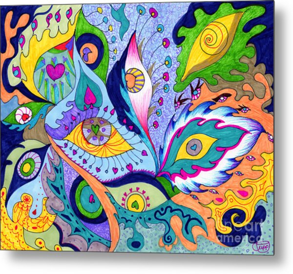 Fantas Eyes Metal Print