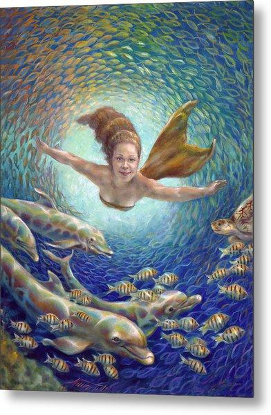 Fantastic Journey II - Mermaid Metal Print