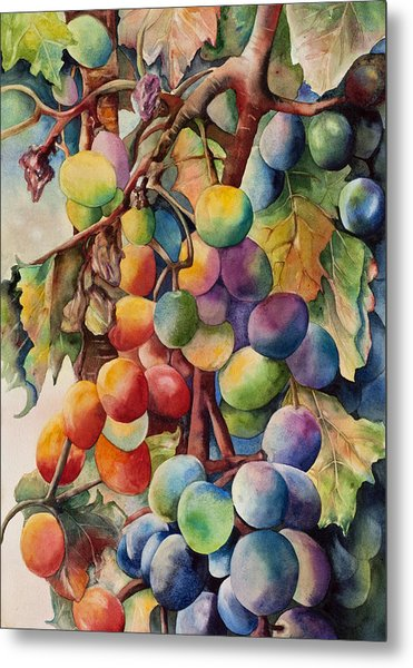 Fantasy Grapes Metal Print