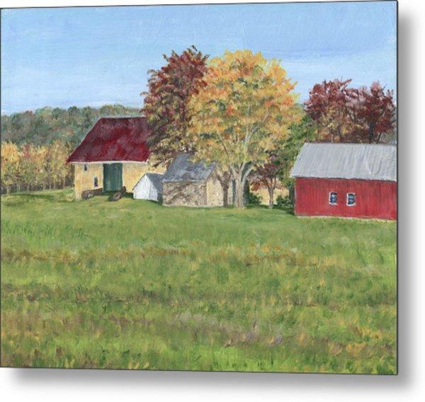 Farm On Ridge Road Metal Print