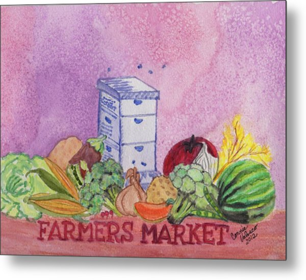 Farmers Market No.3 Metal Print