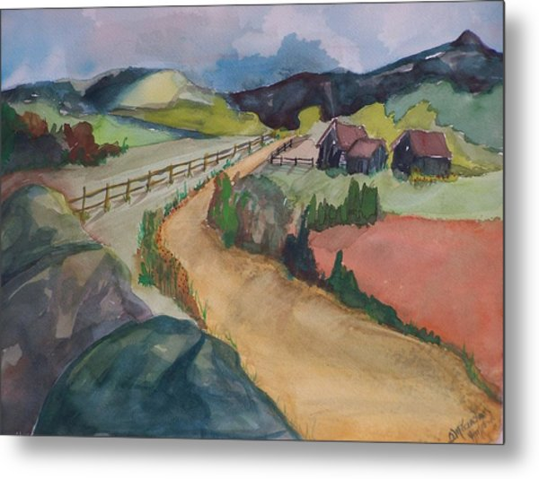 Farmland Road Metal Print