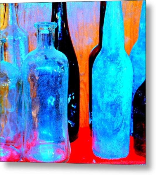 Fauvist Bottles Metal Print