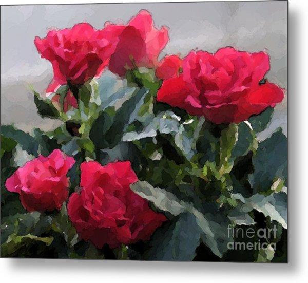 February Roses Metal Print