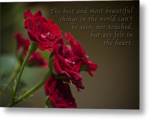 Felt With Heart Metal Print