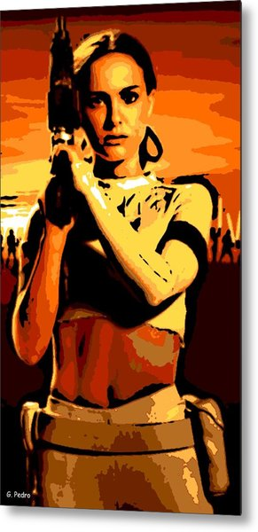 Female Warrior Metal Print