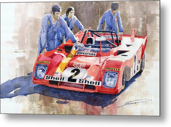 Ferrari 312 Pb 1972 Daytona 6-hour Winning Metal Print