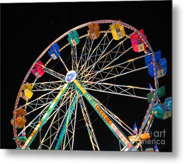 Ferris Wheel II Metal Print by Heidi Hermes