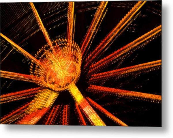 Ferris Wheel Lights Metal Print by Jeffrey Auger