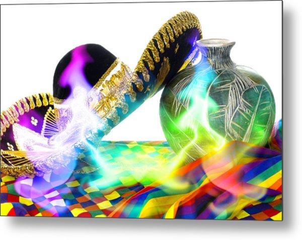 Festive Fiesta Metal Print by Trudy Wilkerson