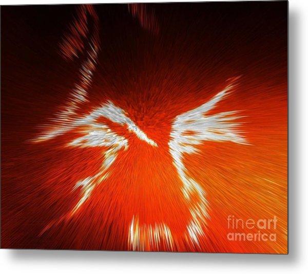 Fiery Angel Face Metal Print by Robert Haigh