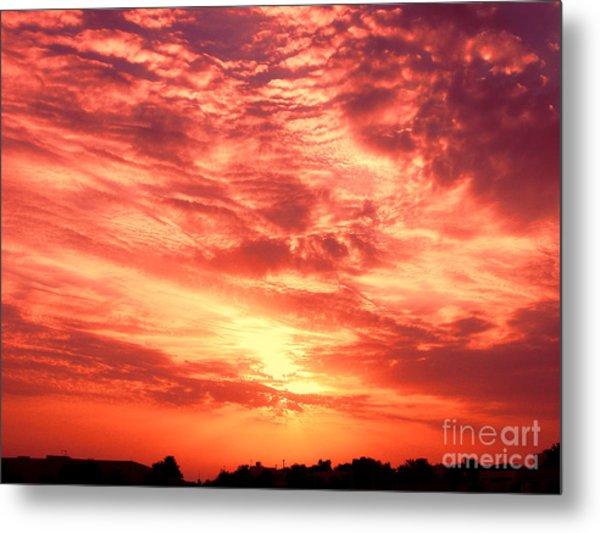 Fiery Sunrise Metal Print by Graham Taylor