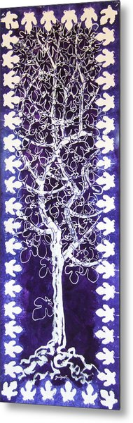 Fig Tree And Moonlight Metal Print by Alain Guiguet