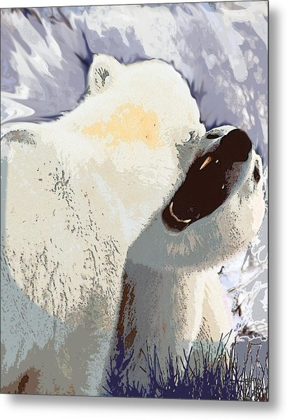 Fighting Bears Metal Print
