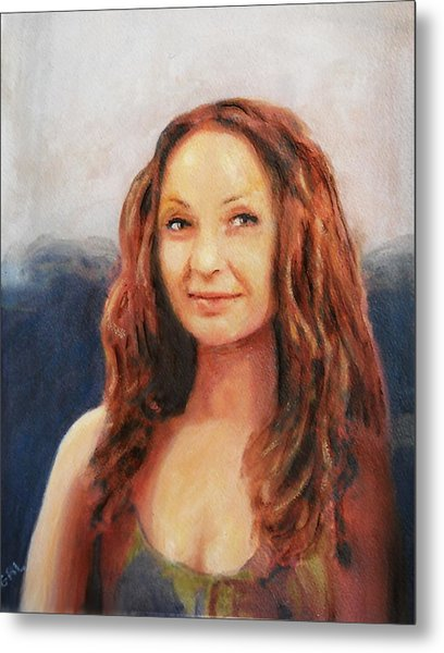 Fine Art Original Painting Jen Mona Lisa 2012 Metal Print by G Linsenmayer