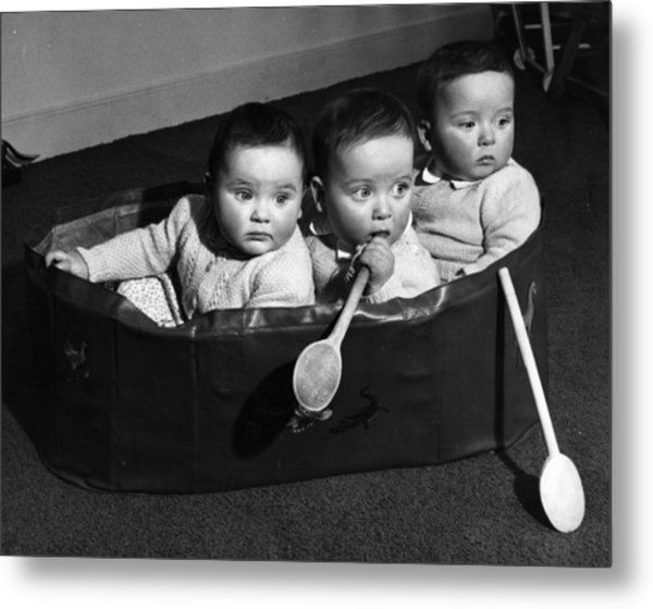 Finslater Triplets Metal Print by Housewife