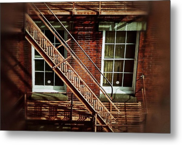Fire Escape Metal Print