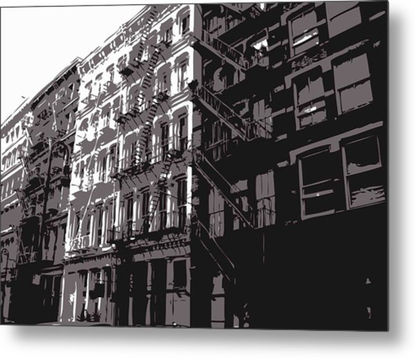 Fire Escapes Bw3 Metal Print by Scott Kelley