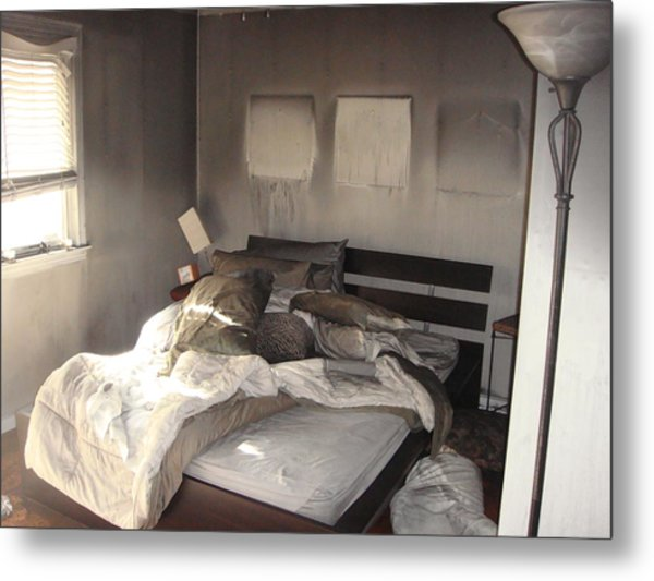 Fire In The Bed Metal Print by Matthew Slowik