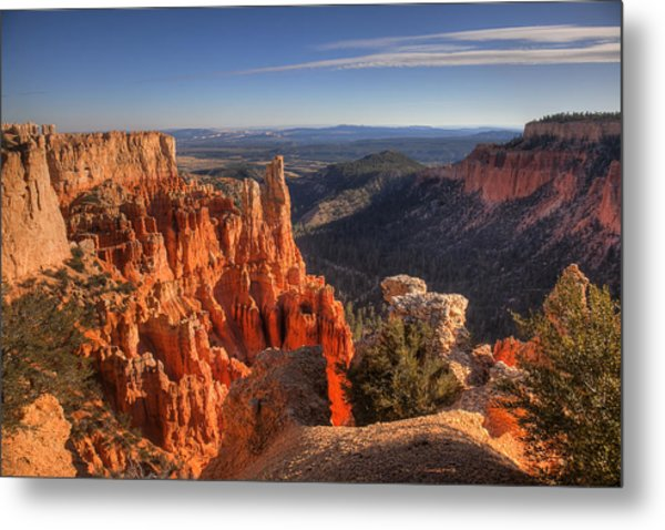 Fire In The Canyon Metal Print