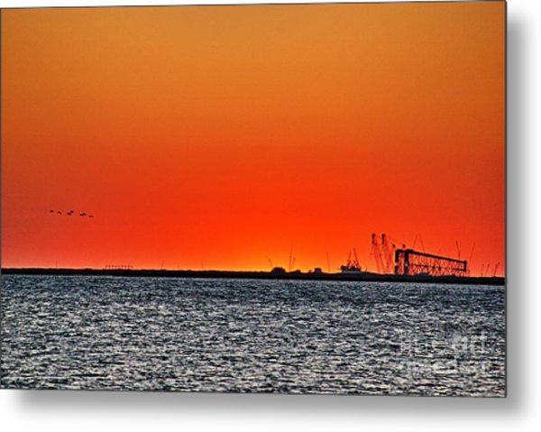 Fire In The Sky Metal Print by Ken Williams