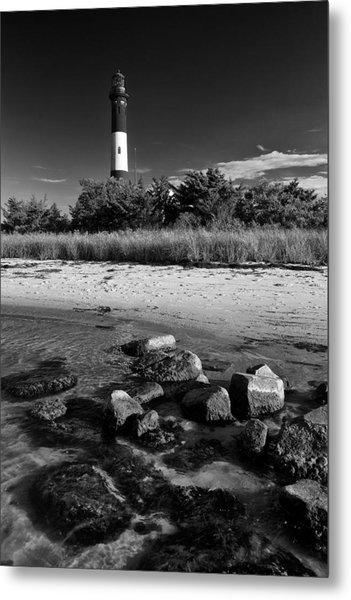 Fire Island In Black And White Metal Print