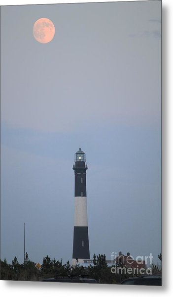 Fire Island Light House  Metal Print by Scenesational Photos