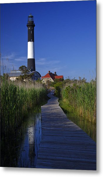 Fire Island Reflection Metal Print