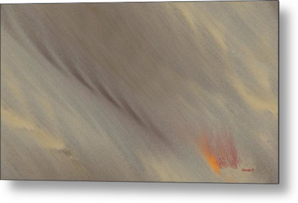 Fire-under Metal Print by Ines Garay-Colomba