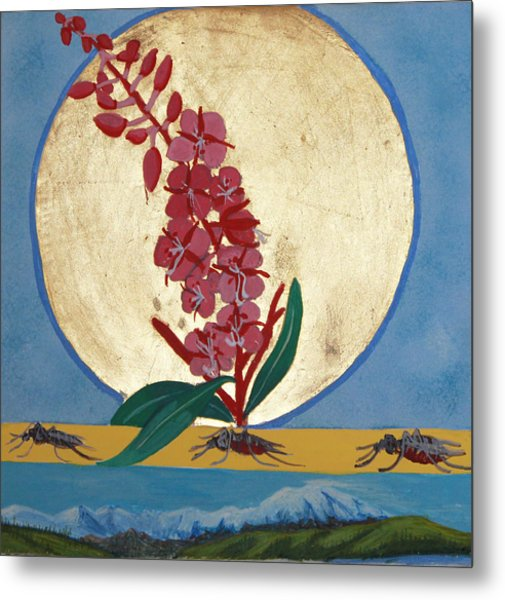 Fireweed In Summer Metal Print by Amy Reisland-Speer